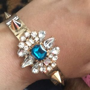 Jewelry - Slip On Chain Spikes and Gems FASHION Bracelet